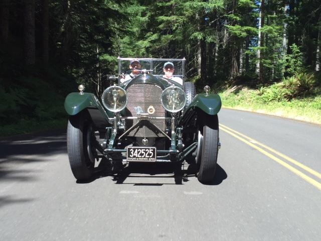 On the road in the 1927 Bentley 3 Litre Vanden Plas Tourer