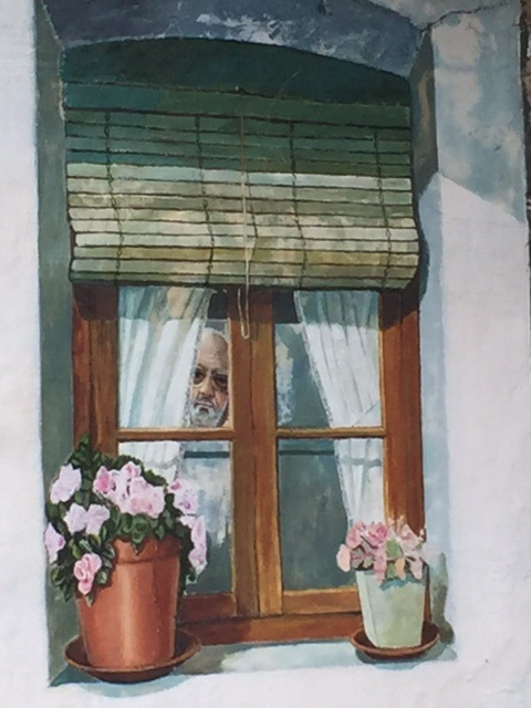 And this one. Methinks that is the artist and owner of house and car and dog and cat.