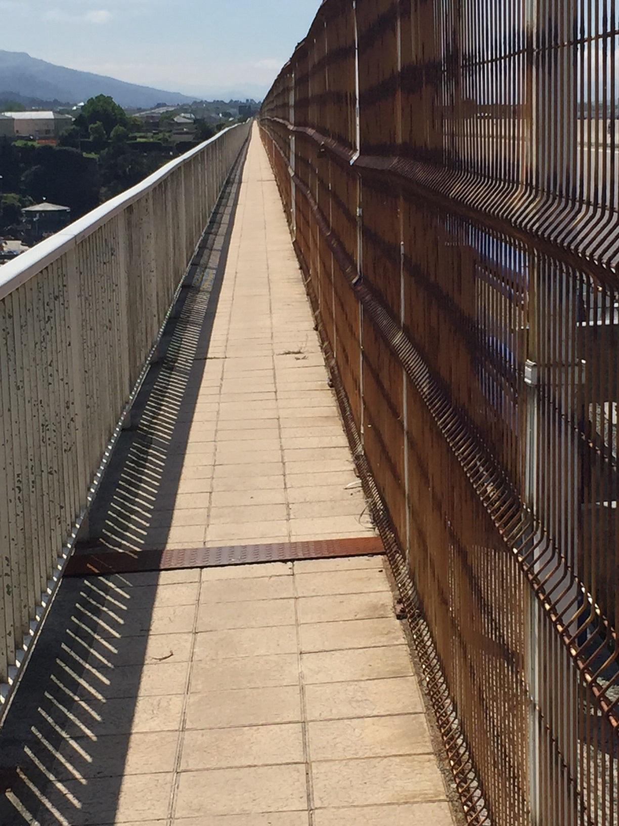It's a loooong walk across that bridge