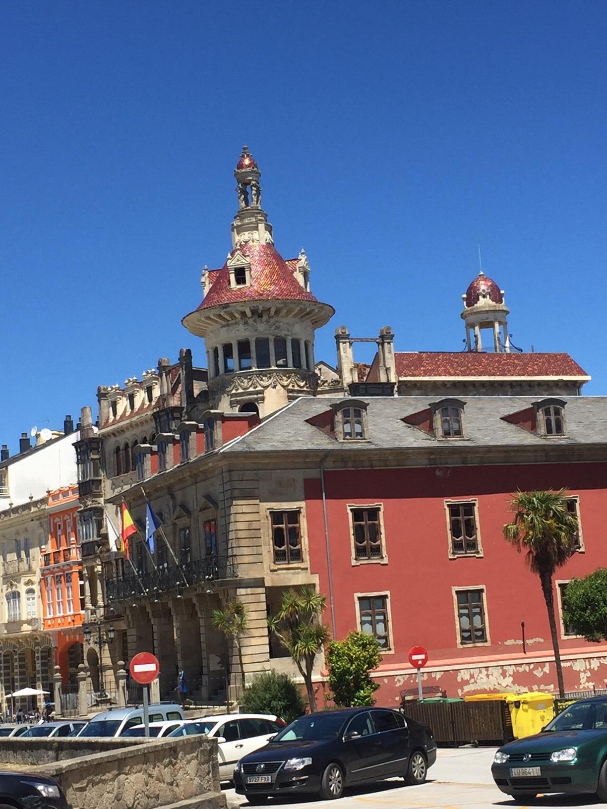 Signature building in Ribadeo