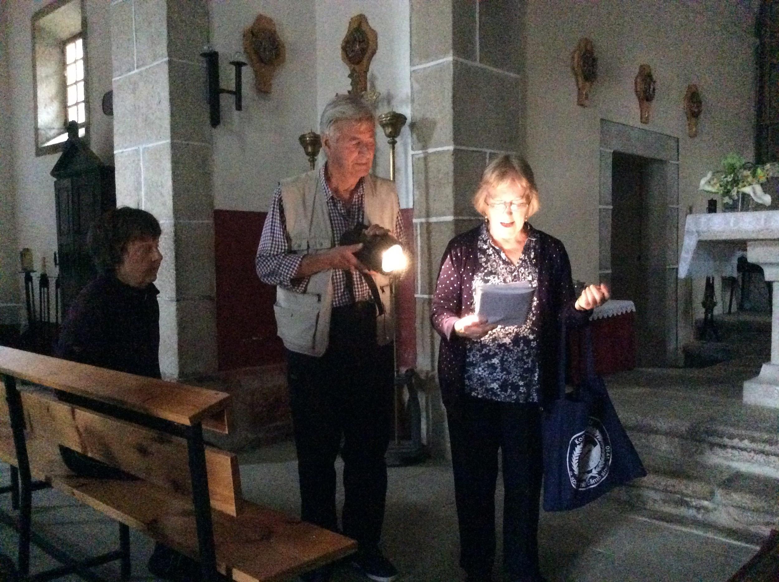 Church tour and prayer