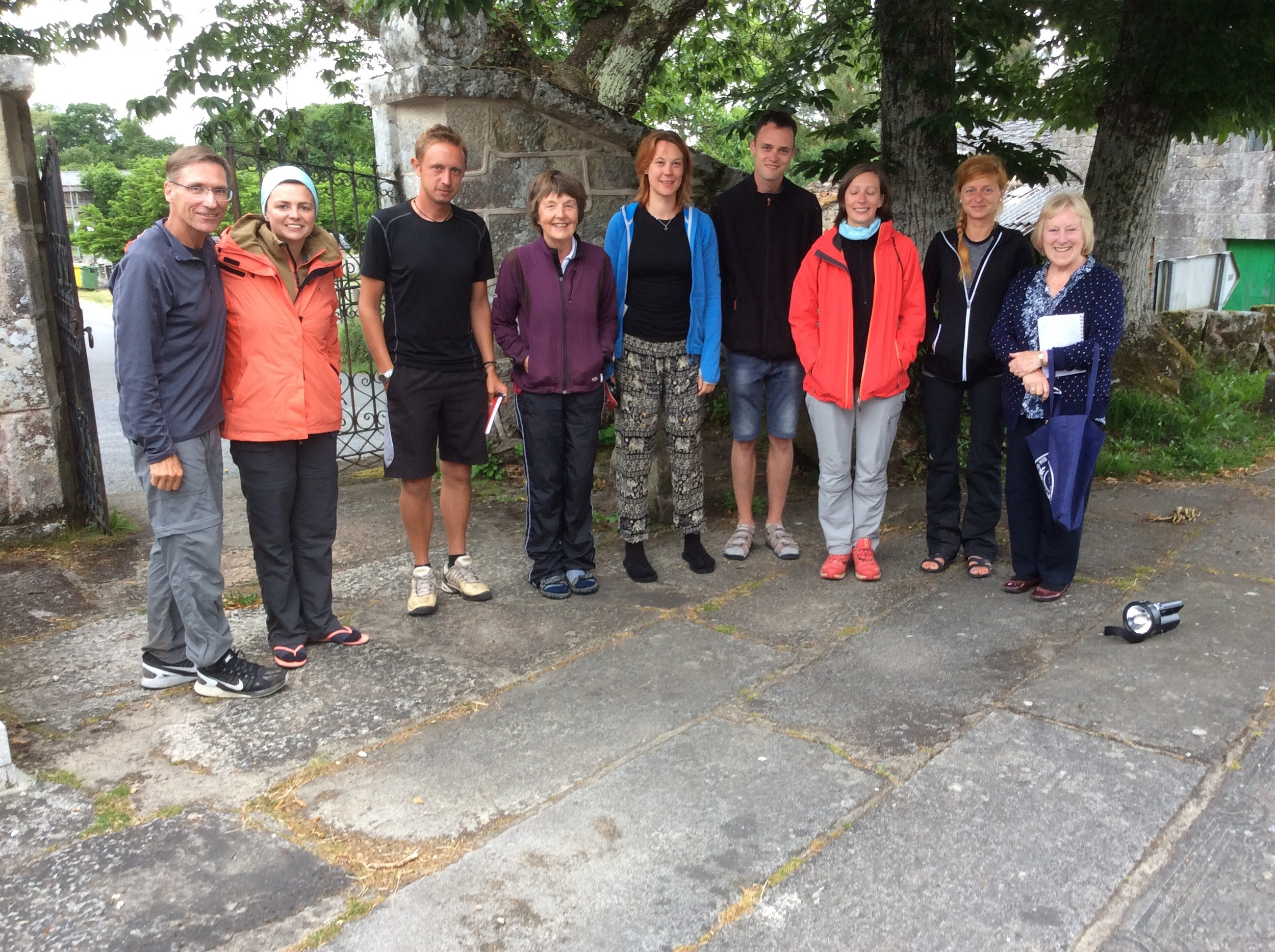 Hosts and peregrinos (pilgrims)