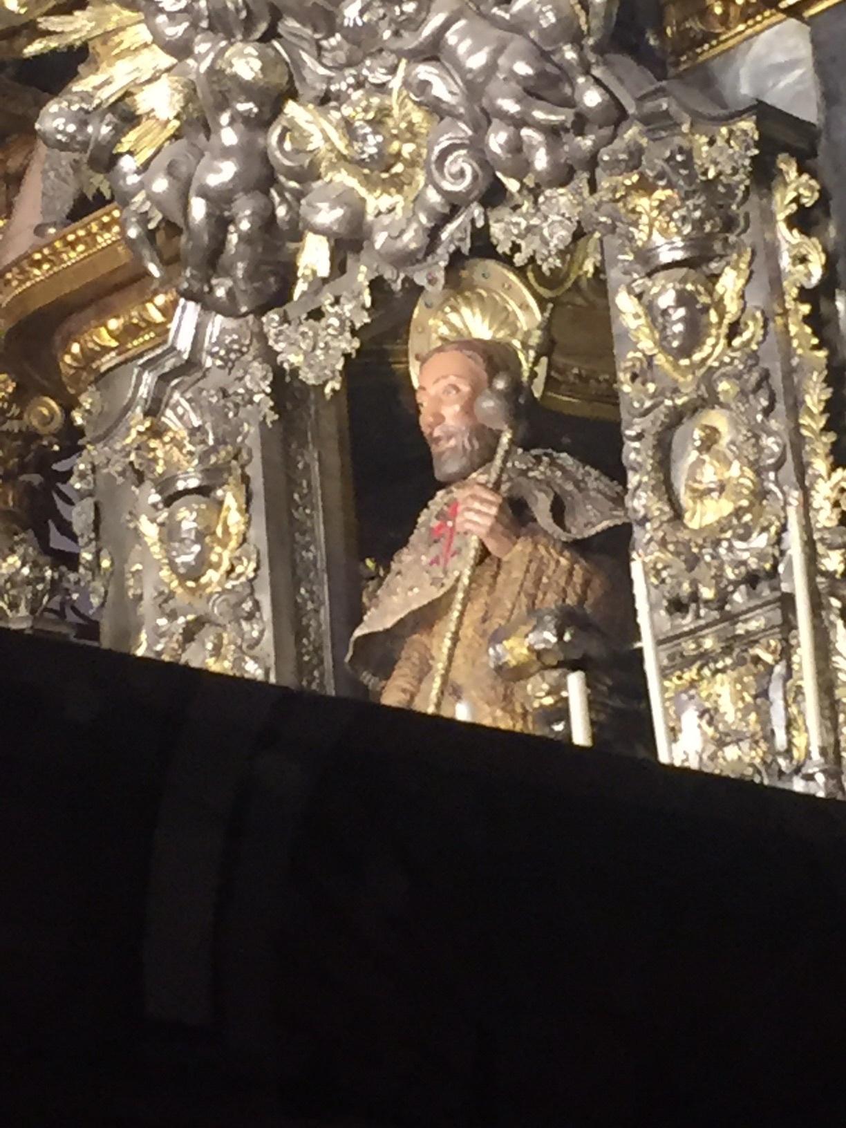St James as centerpiece of altar