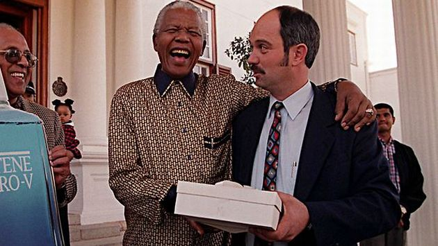 Nelson Mandela and his jailer Christo Brand
