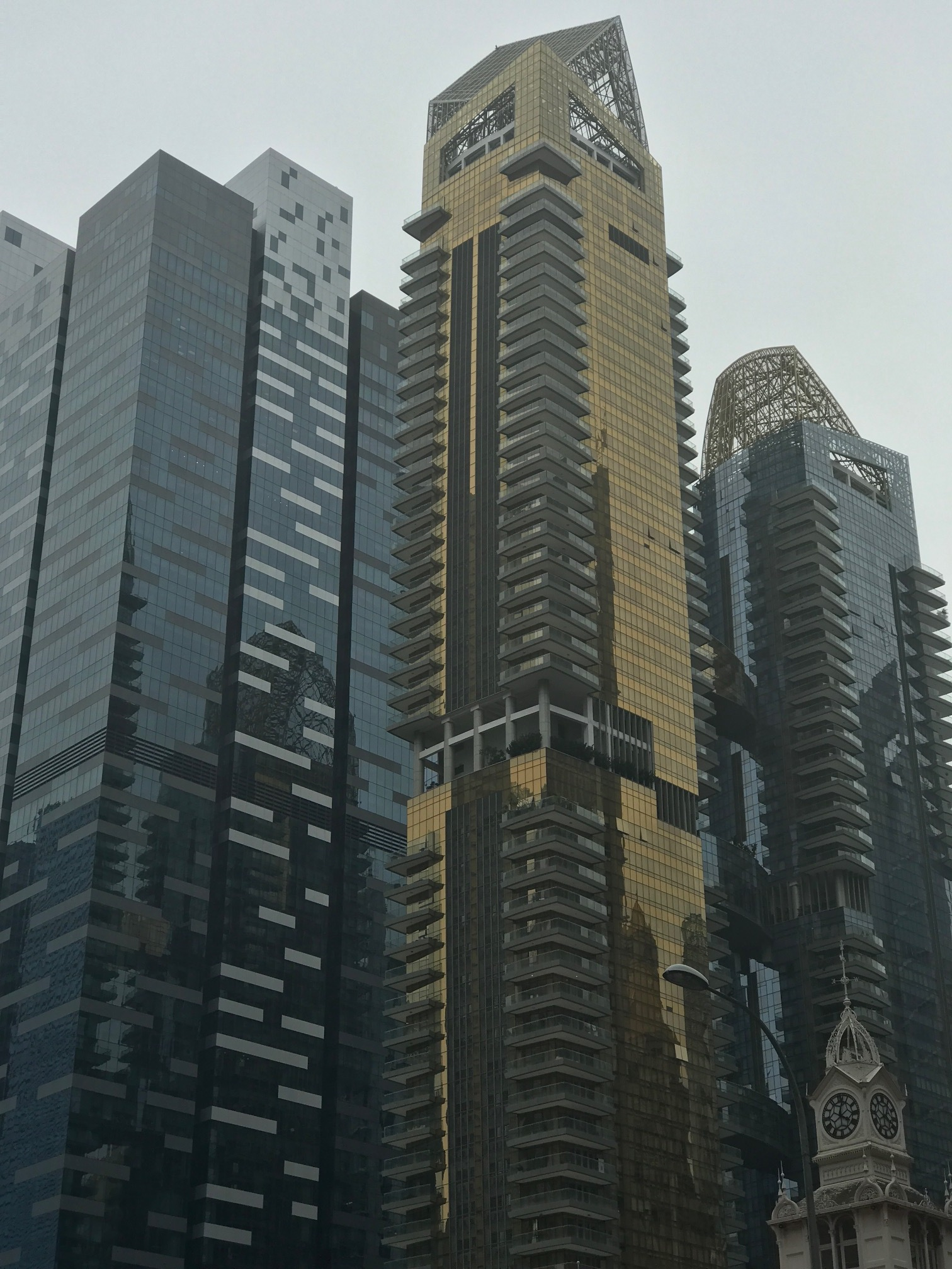Mighty towers rising all over Singapore.