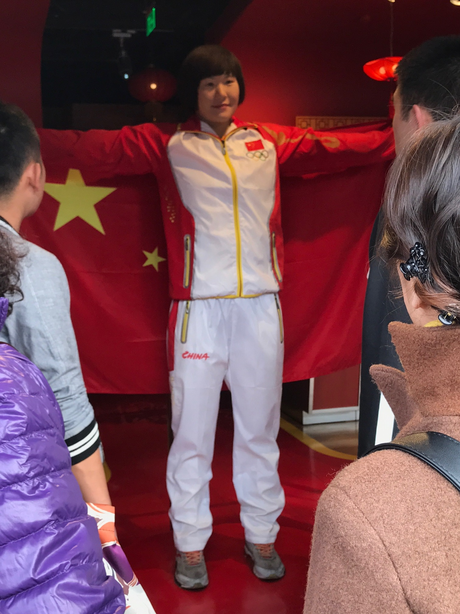 A real wax statue at Bejiing's Madam Toussaud