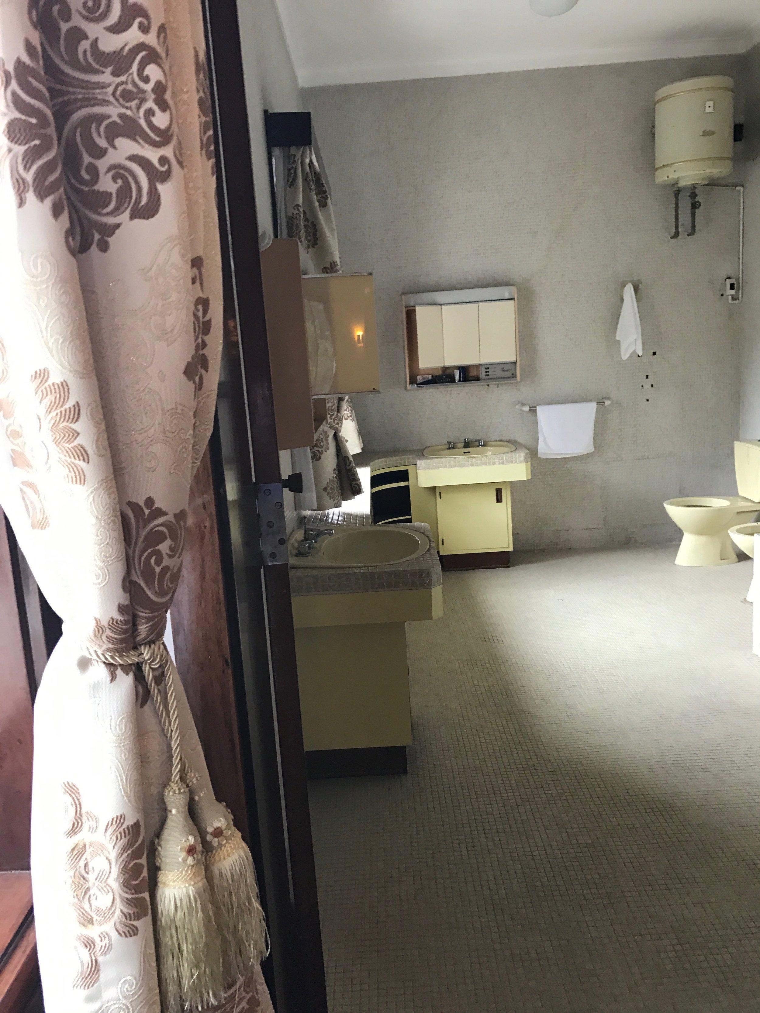 President's bathroom in private quarters