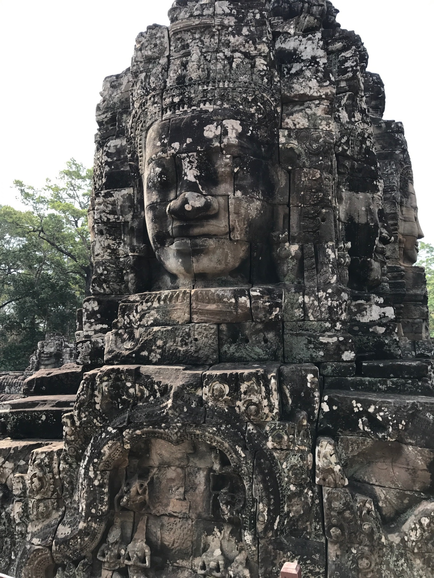 Four fold face of Buddha