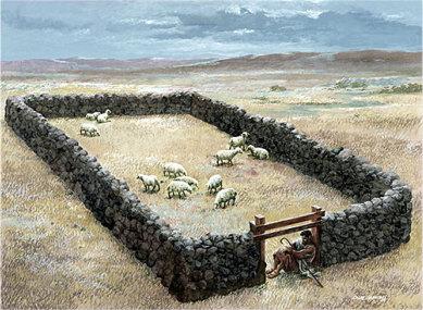 Shepherd as sheepgate