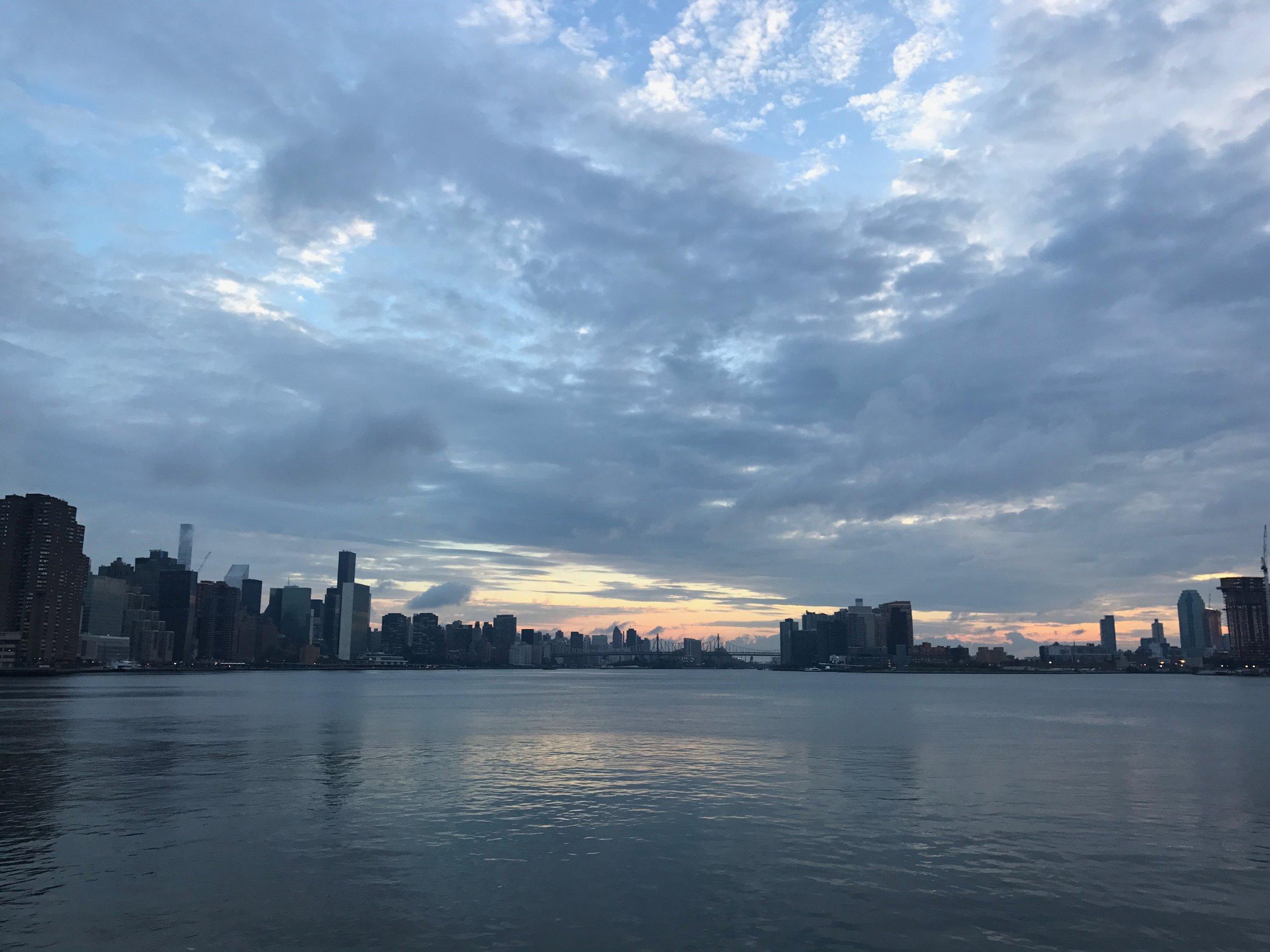 my first morning in Manhattan