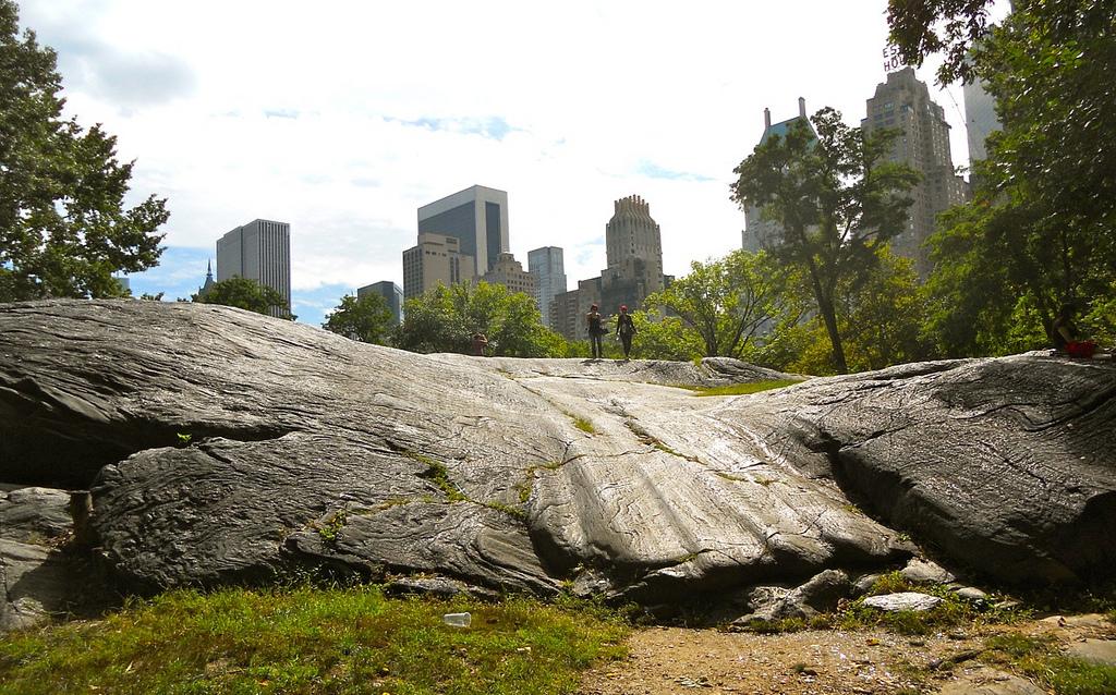 Bedrock (schist) in Central Park