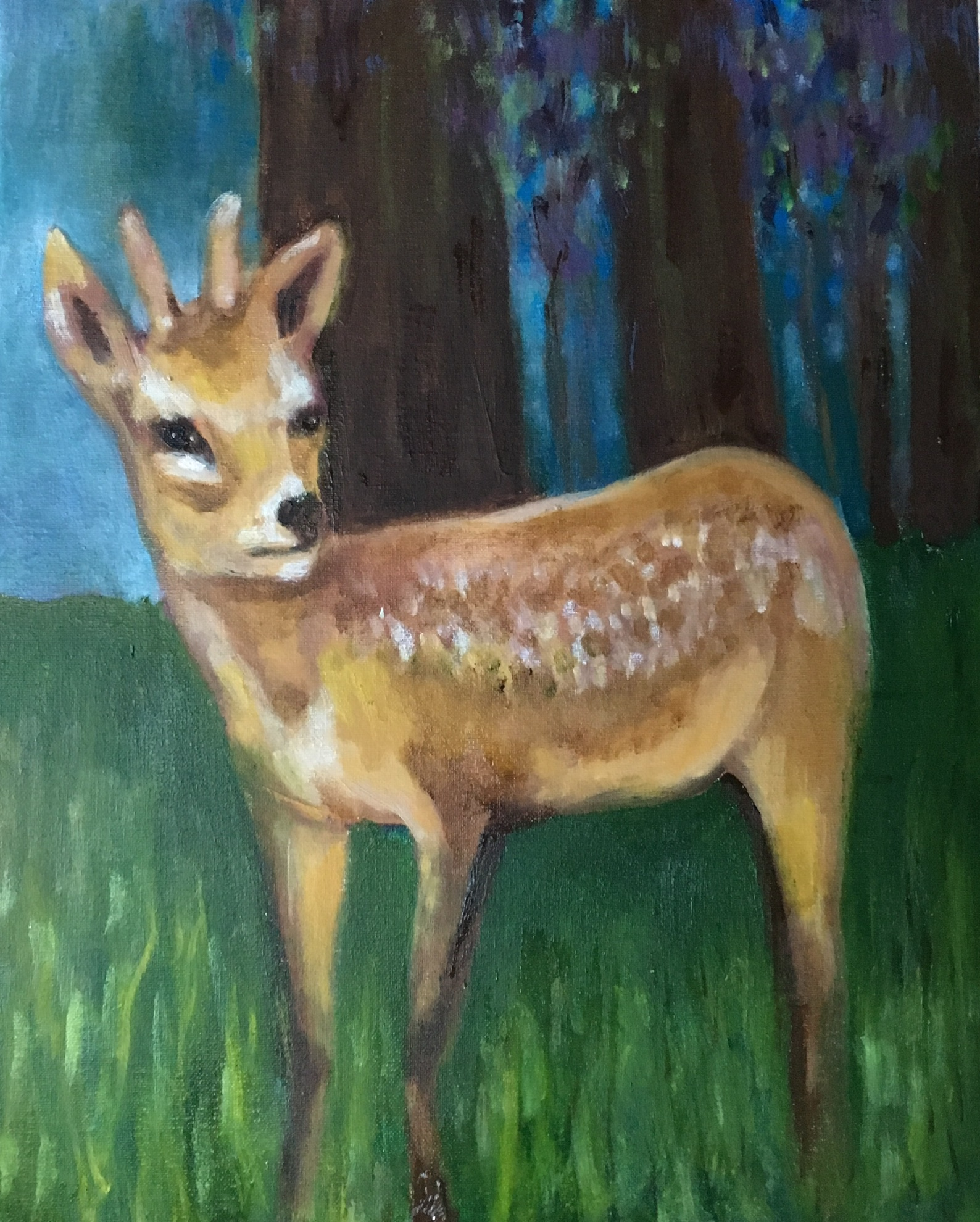 "16""x20"" oil on canvas"