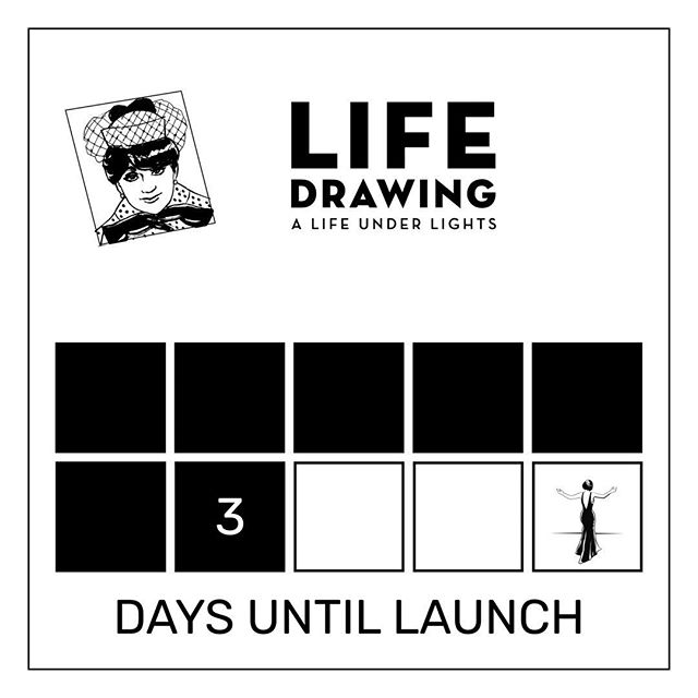 LIFE DRAWING: A Life Under Lights. A graphic novel and memoir by Jessica Martin.  Available soon.