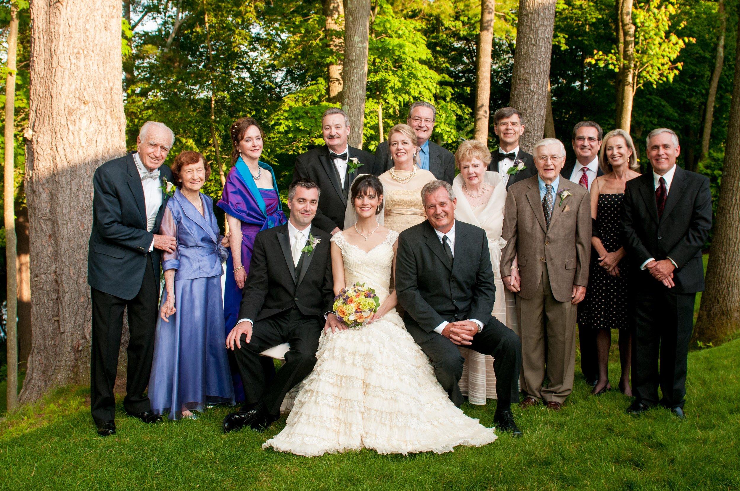 CT Wedding Family Portrait