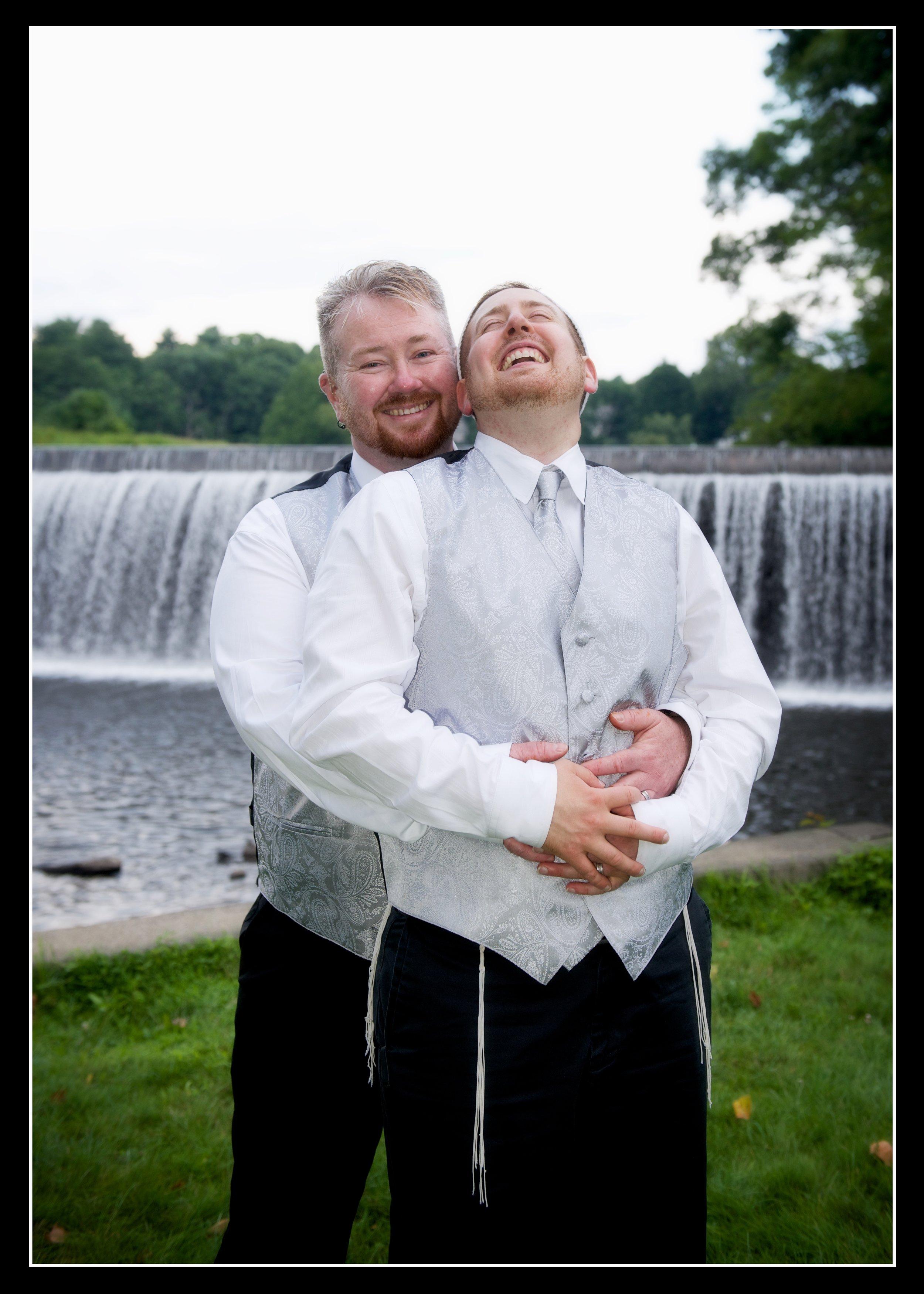 same sex wedding portrait