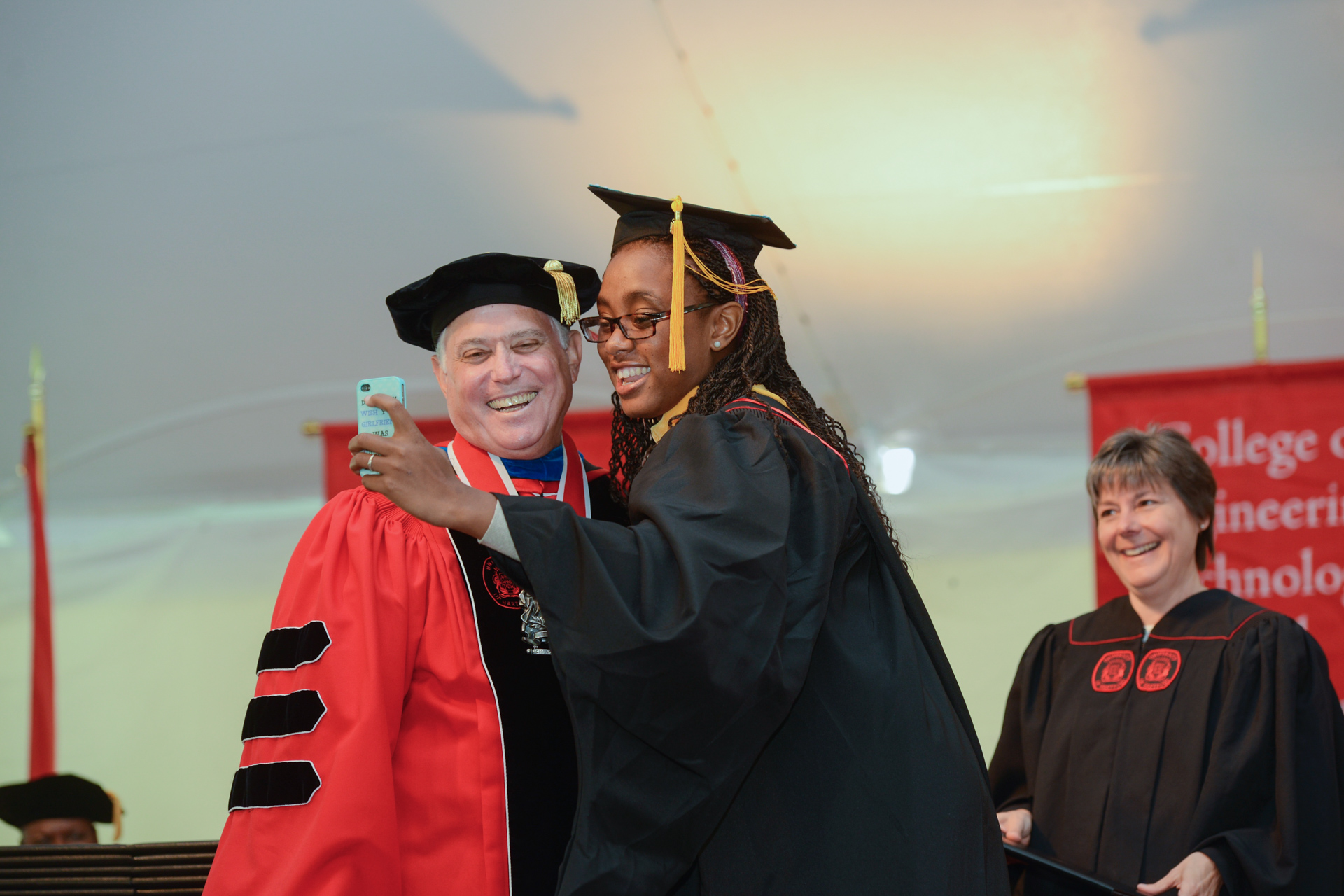 Commencement snapshot with the President