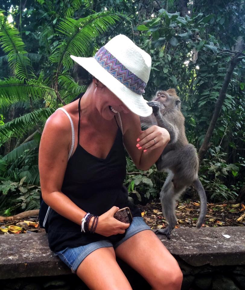 This monkey liked my hat.