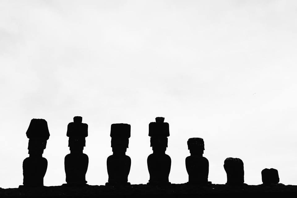 Ahu Nau Nau, at Anakena Beach, was the site of the island leaders' homes and is one of the best preserved of the detailed moai petroglyphs.