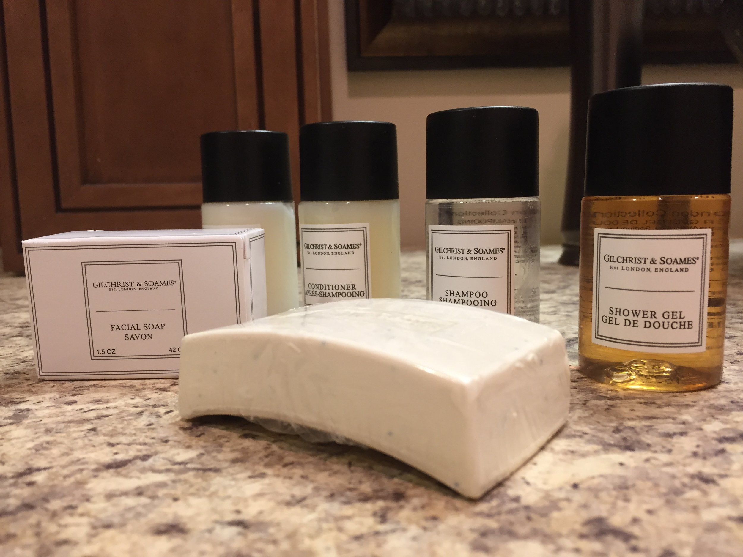 Gilchrist & Soames is my  favorite brand of hotel toiletries! Freshly scented and environmentally-friendly. I get unreasonably excited when I see these bottles in a hotel room. (toiletries courtesy  Tambo del Inka Resort & Spa )