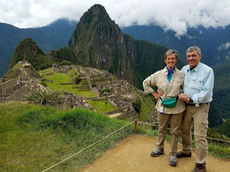 Chris Conangla and Diane Conangla at Machu Picchu with IntroverTravels