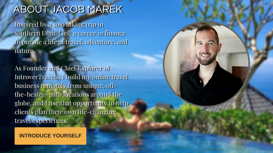 IntroverTravels Jacob Marek Bio