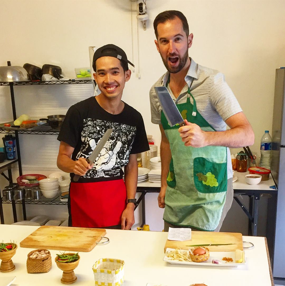 Chef Dew from Basil Cookery in Chiang Mai (IntroverTravels)
