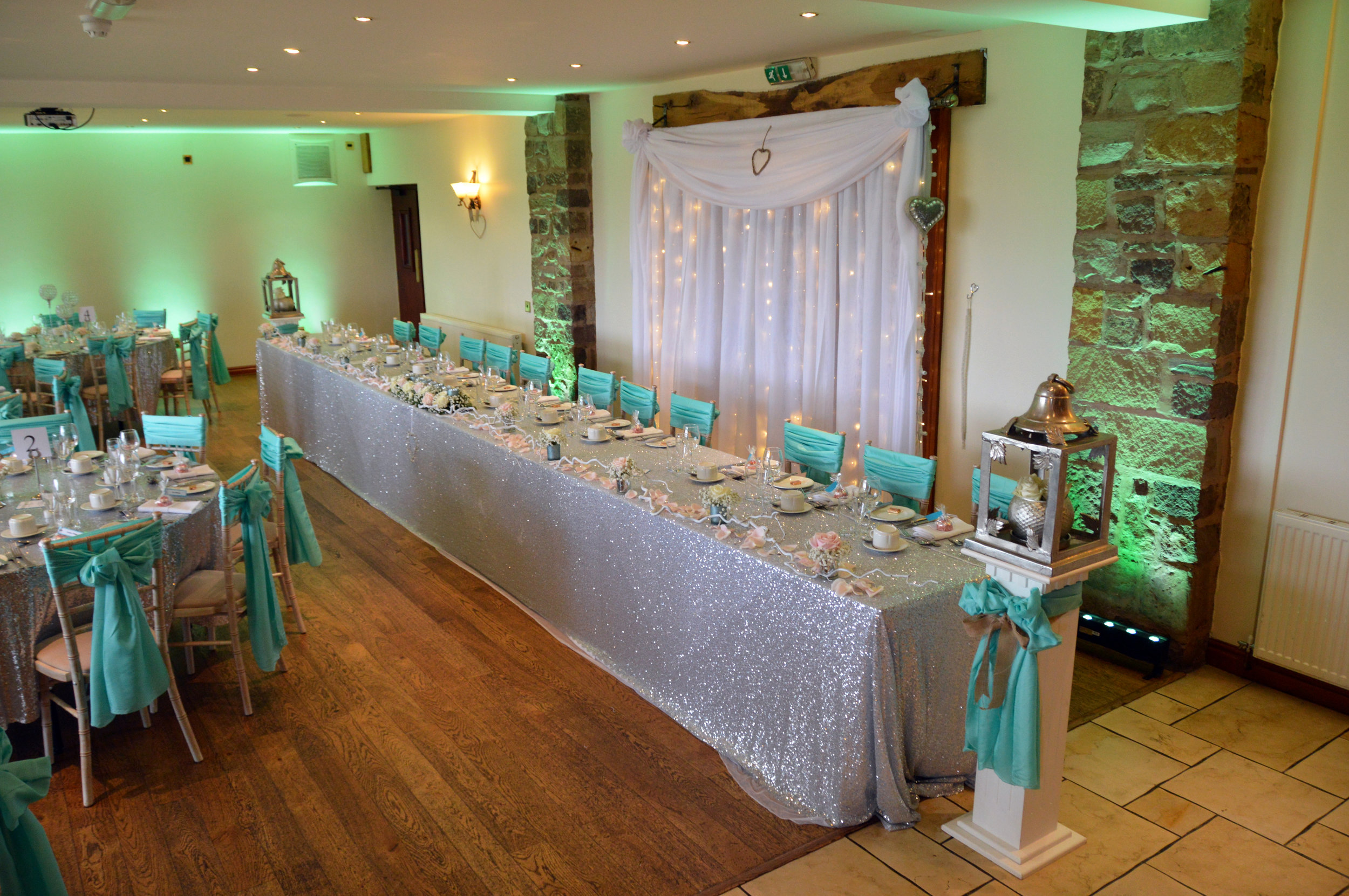 Top table sequin cloth