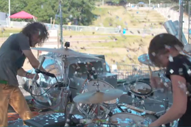 Sitting in with the Flaming Lips  (Buffalo, NY)