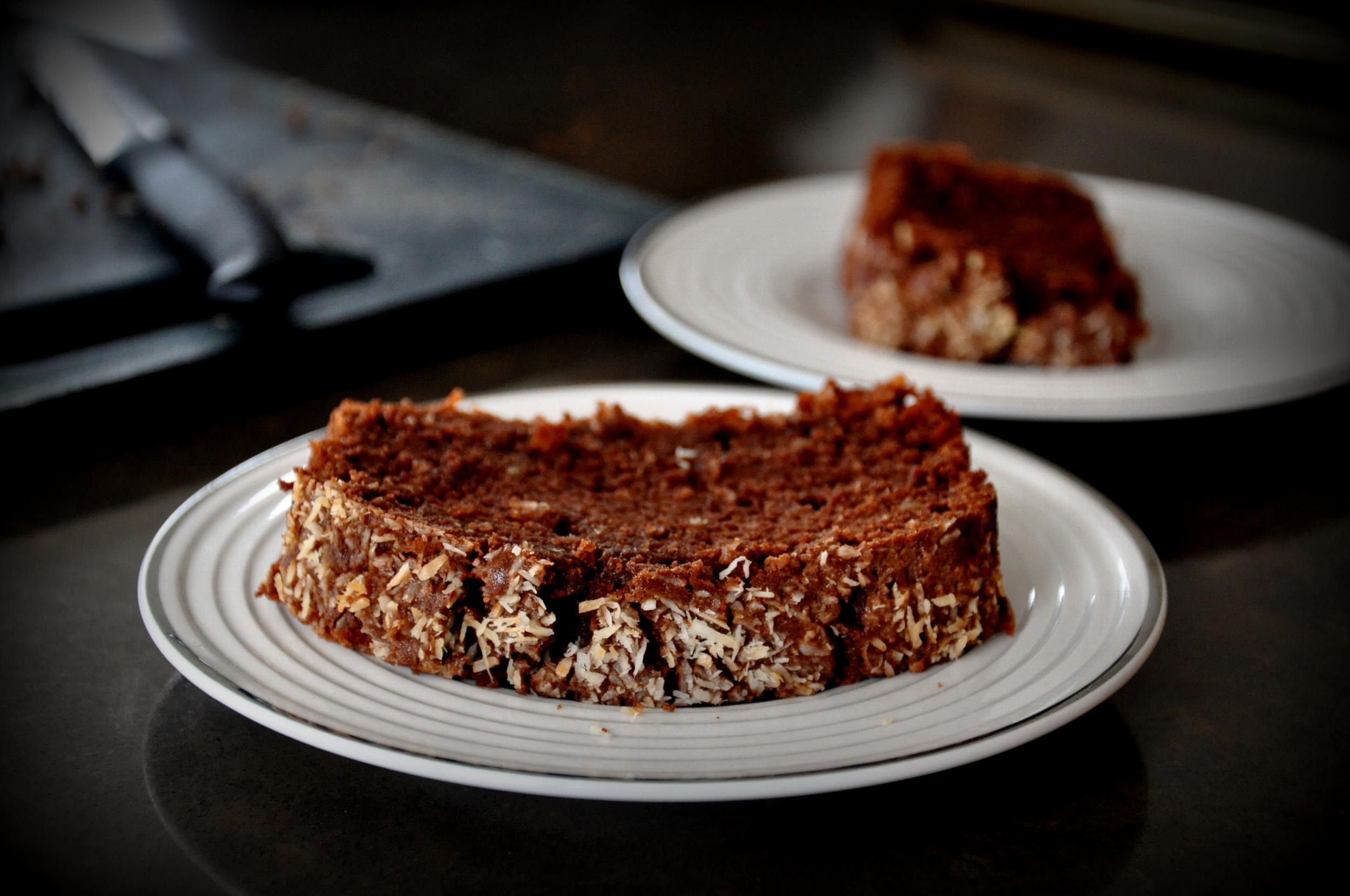 Chocolate Coconut Atta Cake3