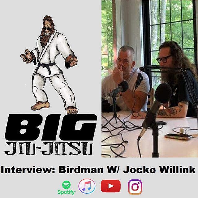 It's here, and it's ready for you to listen to. Thanks to @birdmanbjj for sitting down with me once again and thanks to @jockowillink for Dojo Storming the show!  Find the episode at BJJshow.com or your favorite podcast app.  #bjj #podcast #selfdefense #trapandrollsoapco #tapearmor #rollzgear #bigjiujitsu #mma #comedy #ufc #listentothis #subscribetous #radio #birdmanbjj #jockowillink #dojostorm