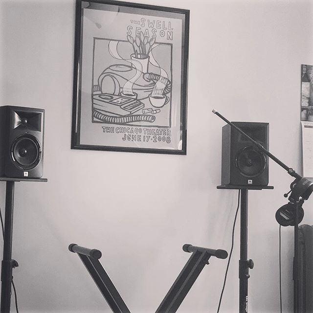What your at-home practice space looks like due to weeks of in-studio rehearsals across town. Coming to your ears on Friday at @612brew.