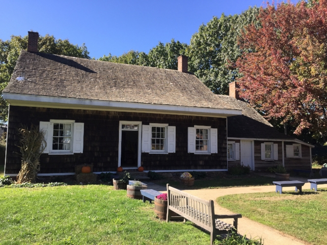 """The Wyckoff House : Most people assume that the oldest surviving building in New York City must be in Manhattan, but it's actually this Dutch farmhouse, in East Flatbush, Brooklyn, built in 1652, and restored as a museum in the 1980s. Dutch settlers in then New Netherlands far pre-date the English colonials who eventually founded """"New York""""."""