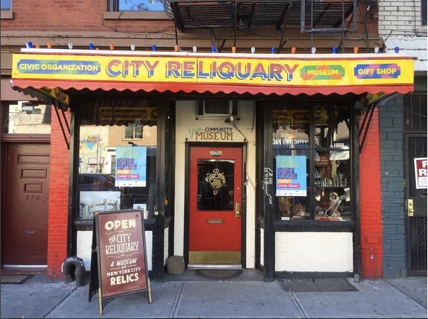 The City Reliquary : NYC is known for its world-famous museums. It also has numerous small & eclectic ones. This one is housed a former bodega and features a wide display of city relics and artifacts.