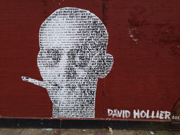 A piece by David Hollier, Brooklyn in 2014.