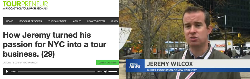 Featured on tourpeneur podcast, Spectrum ny1 news, patch news, guideadvisor, & more!