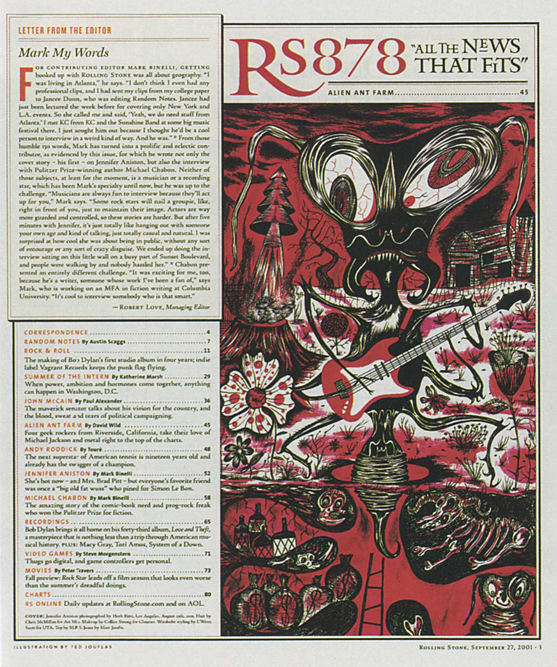 Rolling Stone Issue 878 - 2001