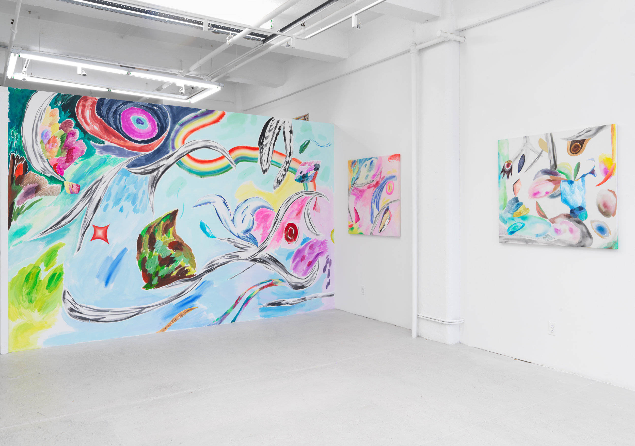 Installation view of  Bill Komoski / Lauren Silva .