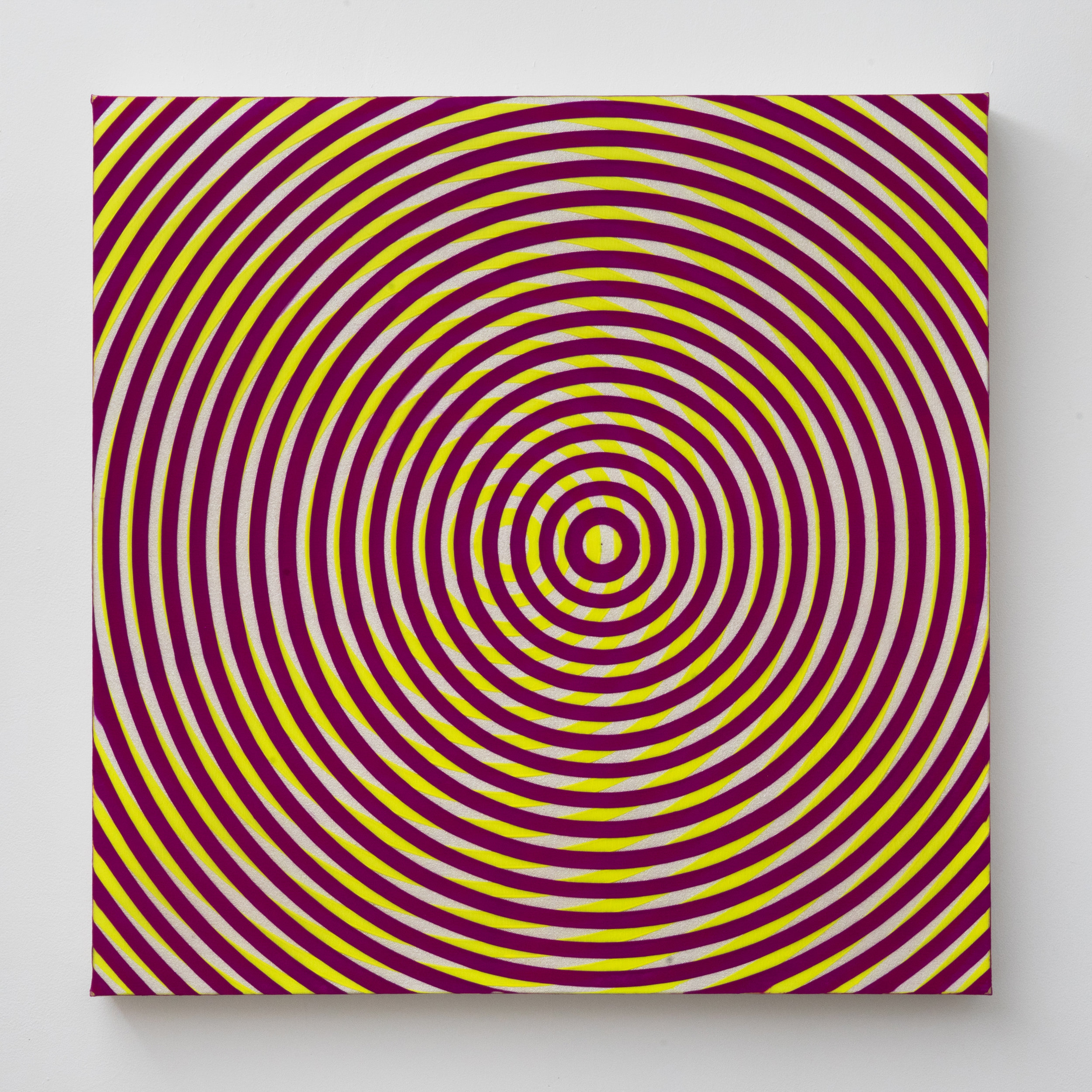 Taro Suzuki.  Helio Trope , 2017. Acrylic on Canvas on Panel. 30 x 30 in.