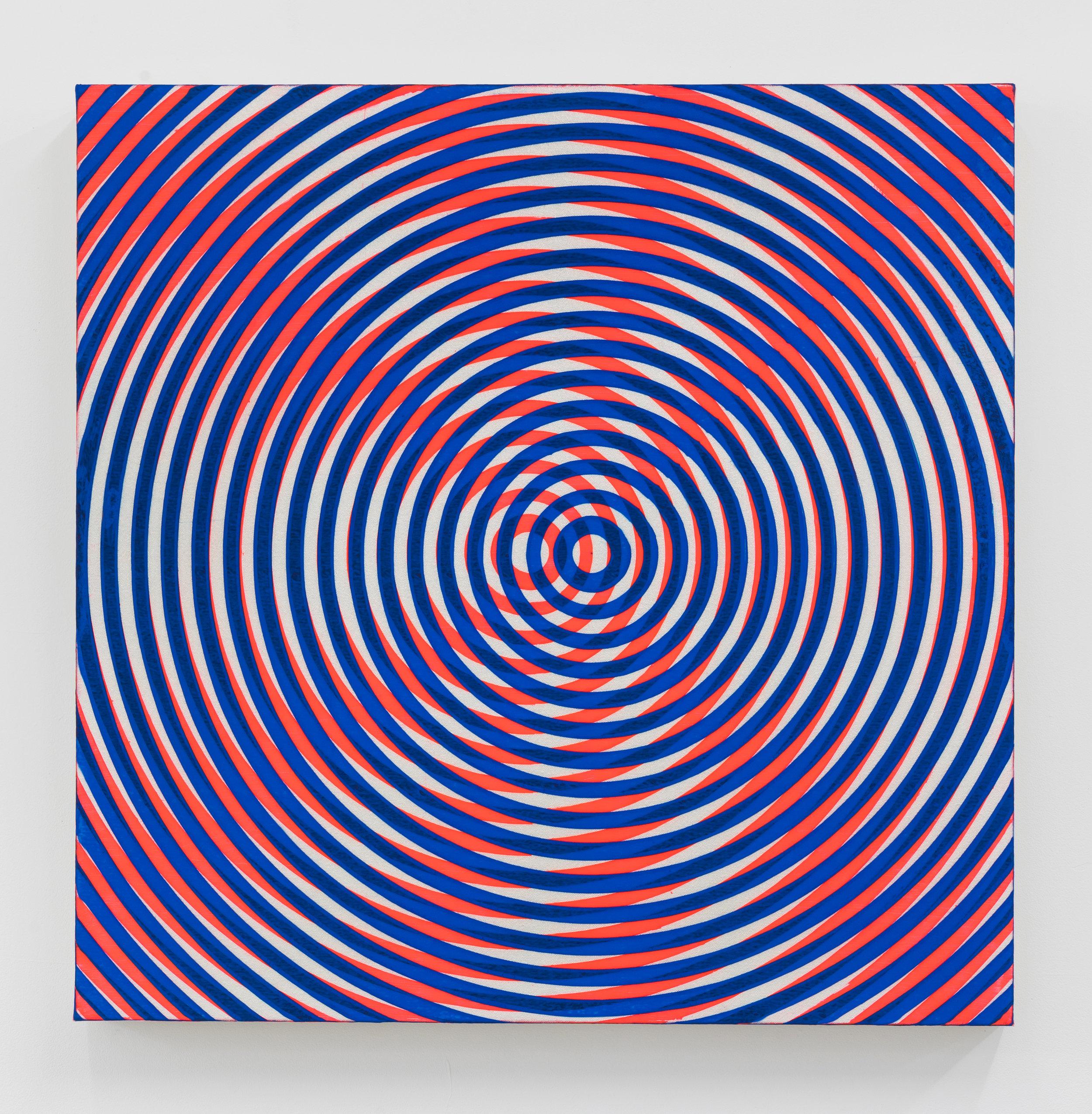 """Taro Suzuki,  Japanese American , 2017, Acrylic on canvas on panel, 30"""" x 30"""""""