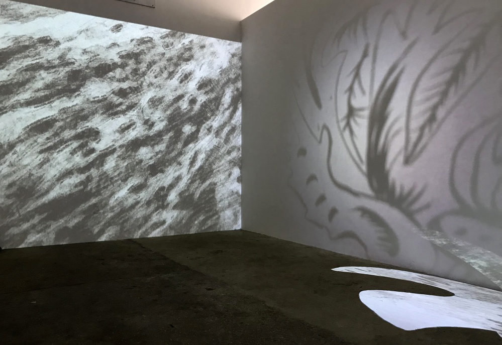 Installation view of   HUNGER   ,  a collaborative project between Johannes DeYoung and Natalie Westbrook for CRUSHCURATORIAL.