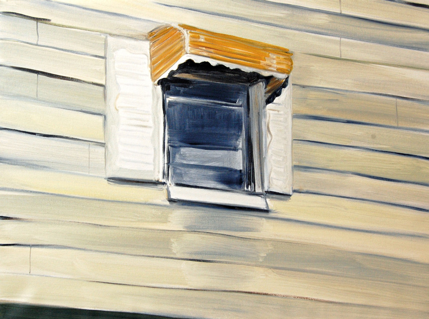 Aglaé Bassens.  Gowanus Window . Oil on canvas. 14 x 18 in.