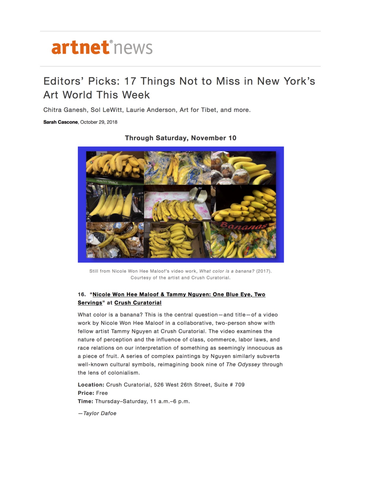 Read in Artnet News