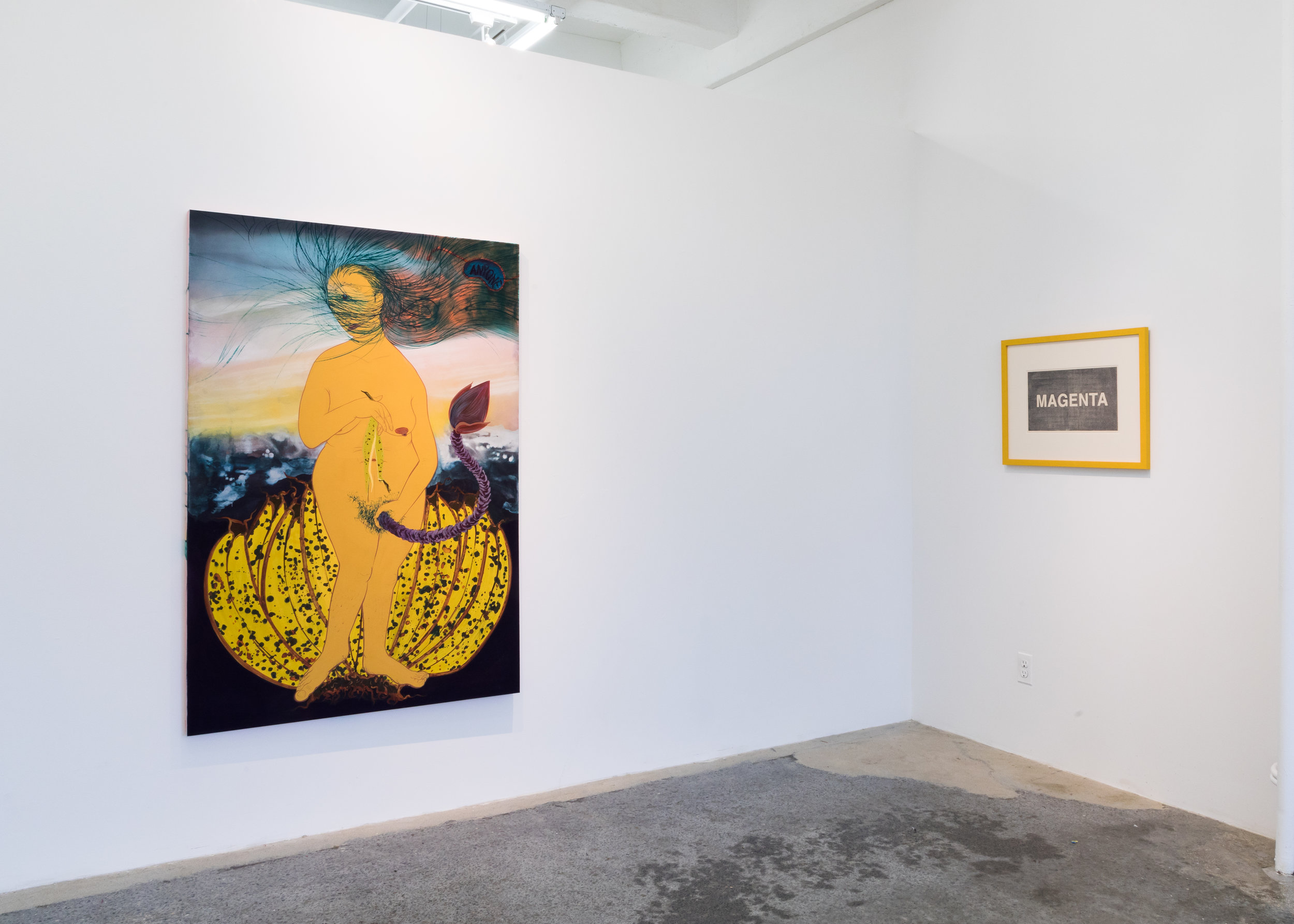 Installation view of  One Blue Eye, Two Servings .