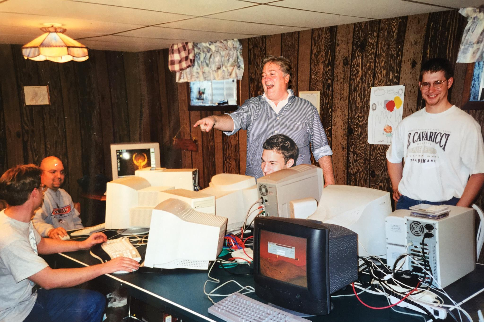 Steve Bannon's first LAN party 1998