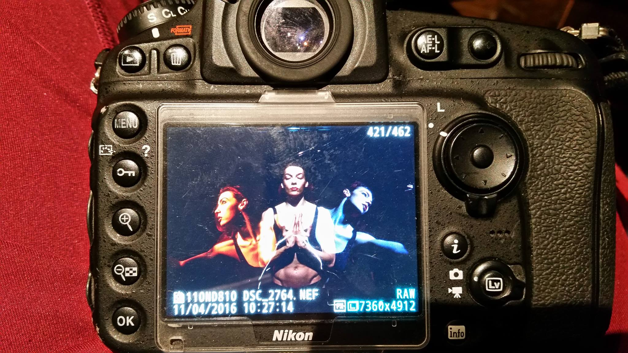 One model, three images, zero PhotoShop.