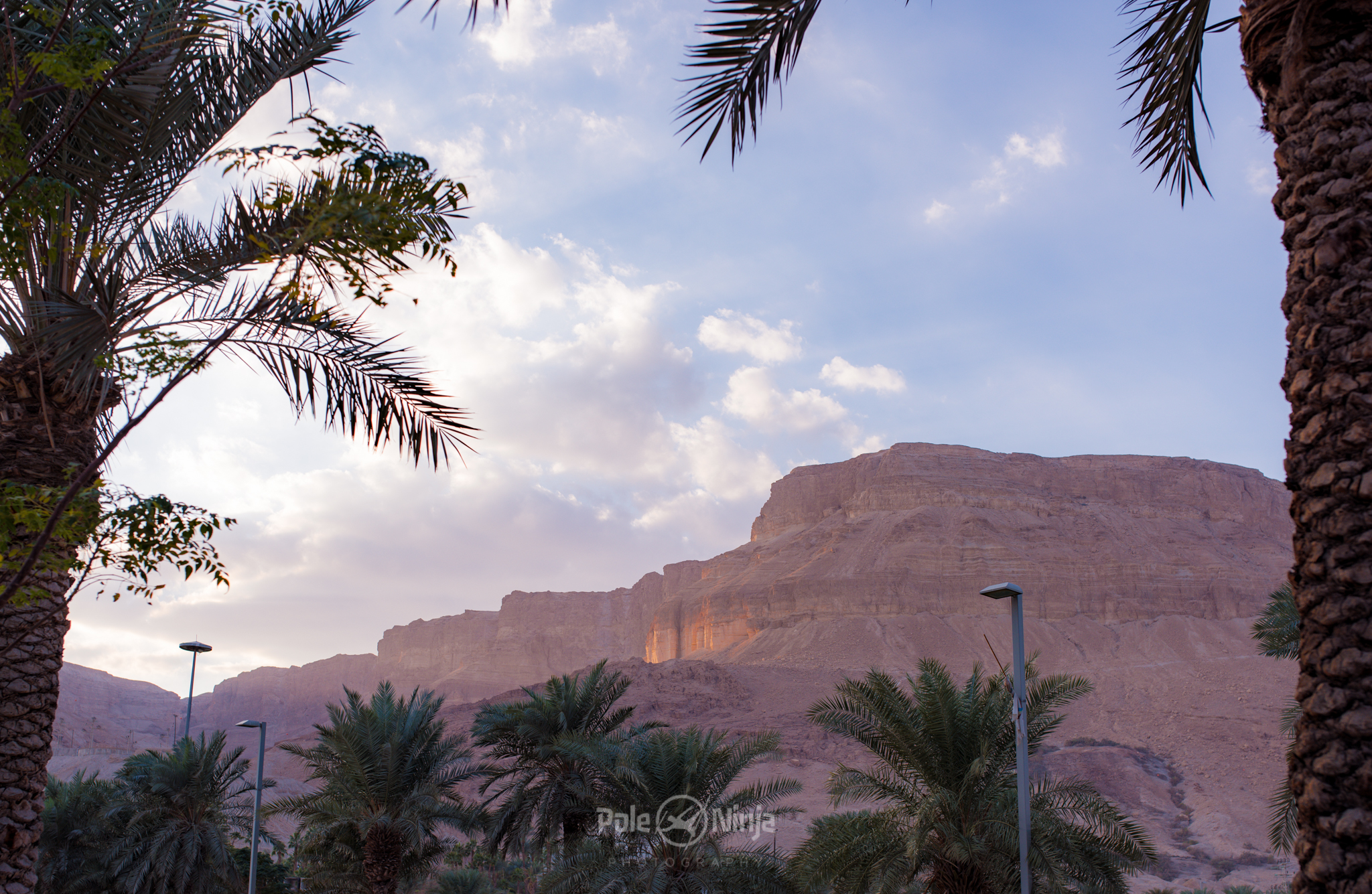 Mountains nearest the Dead Sea at Sunset