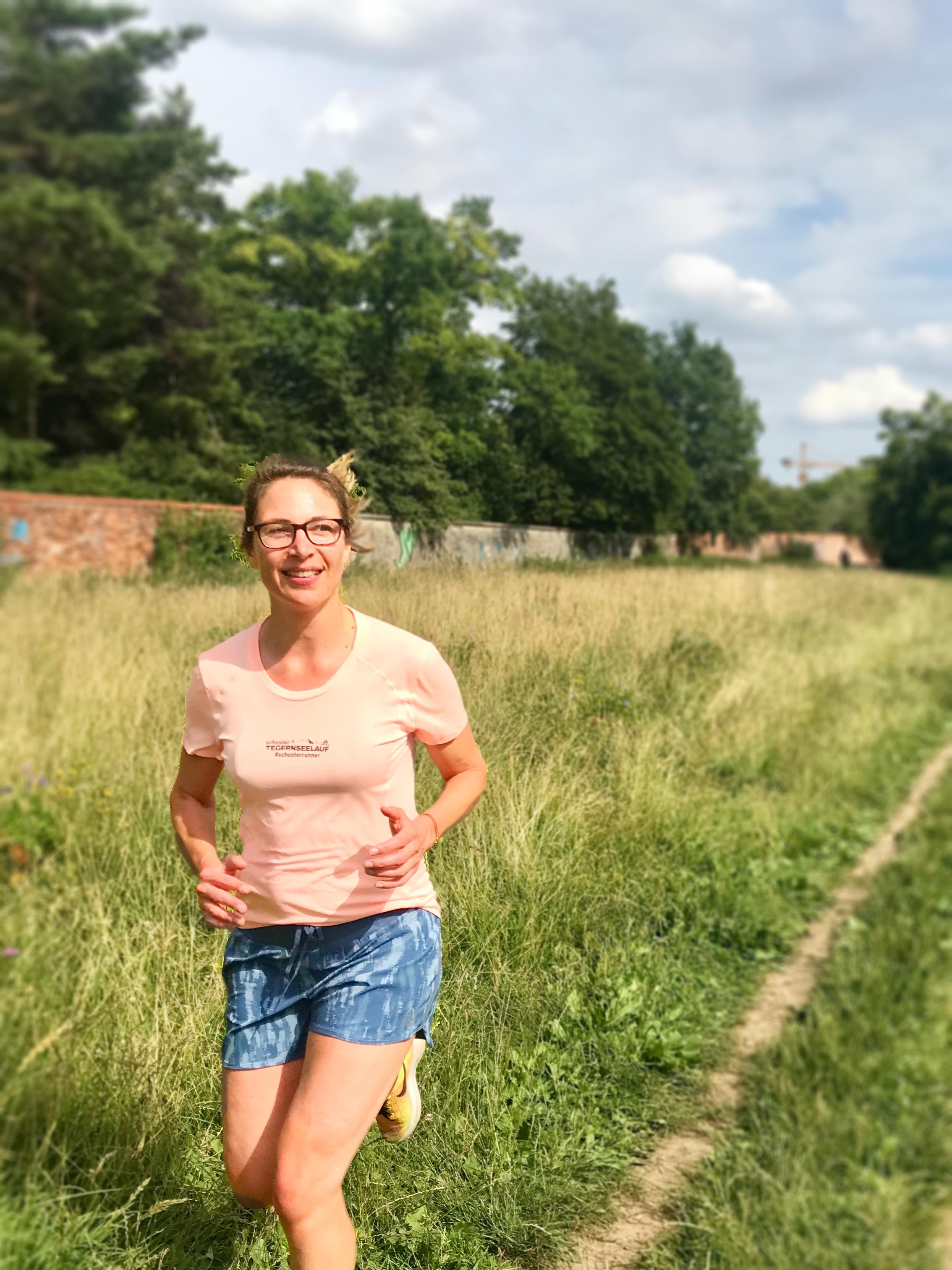 Beim long run vor den Mauern des Nymphenburger Schlossparks