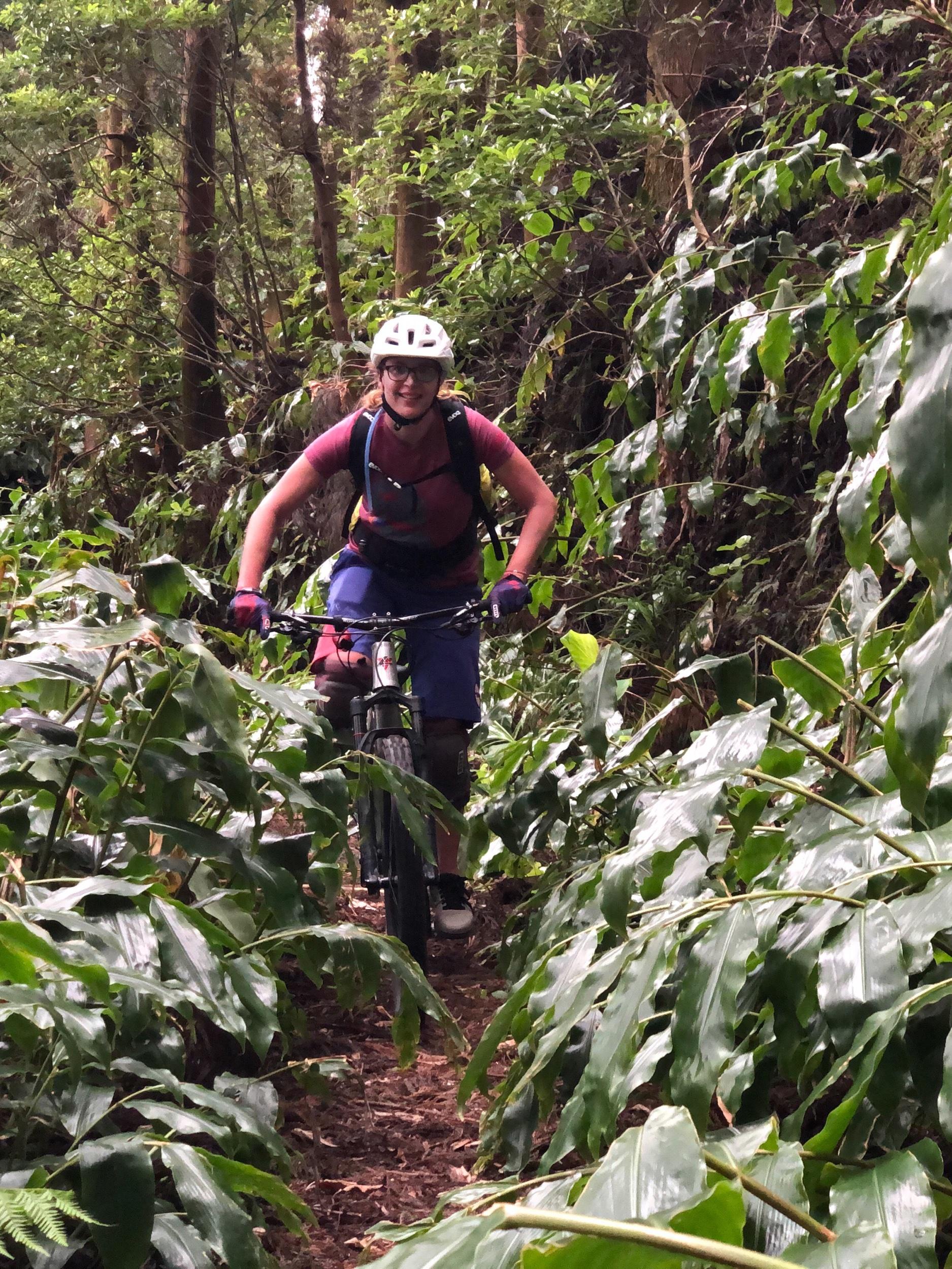 Auf einem der vielen Trails, die wir auf São Miguel gefahren sind