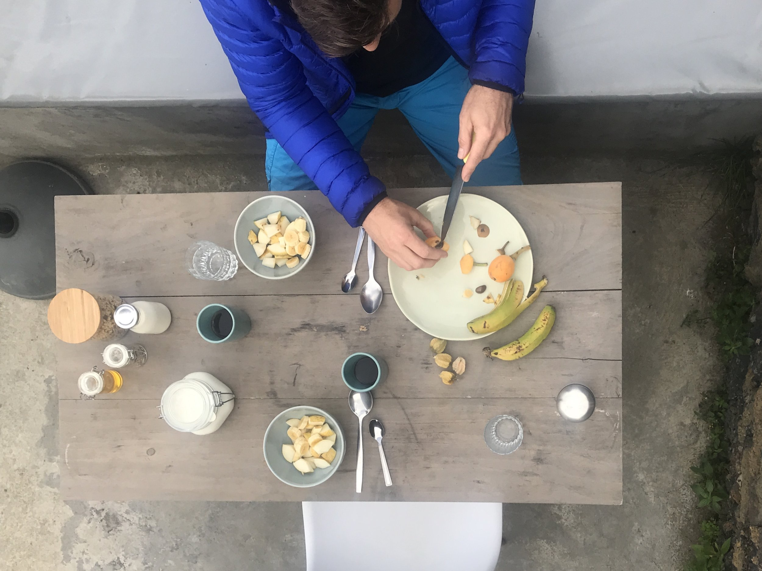 Outdoor-Frühstück