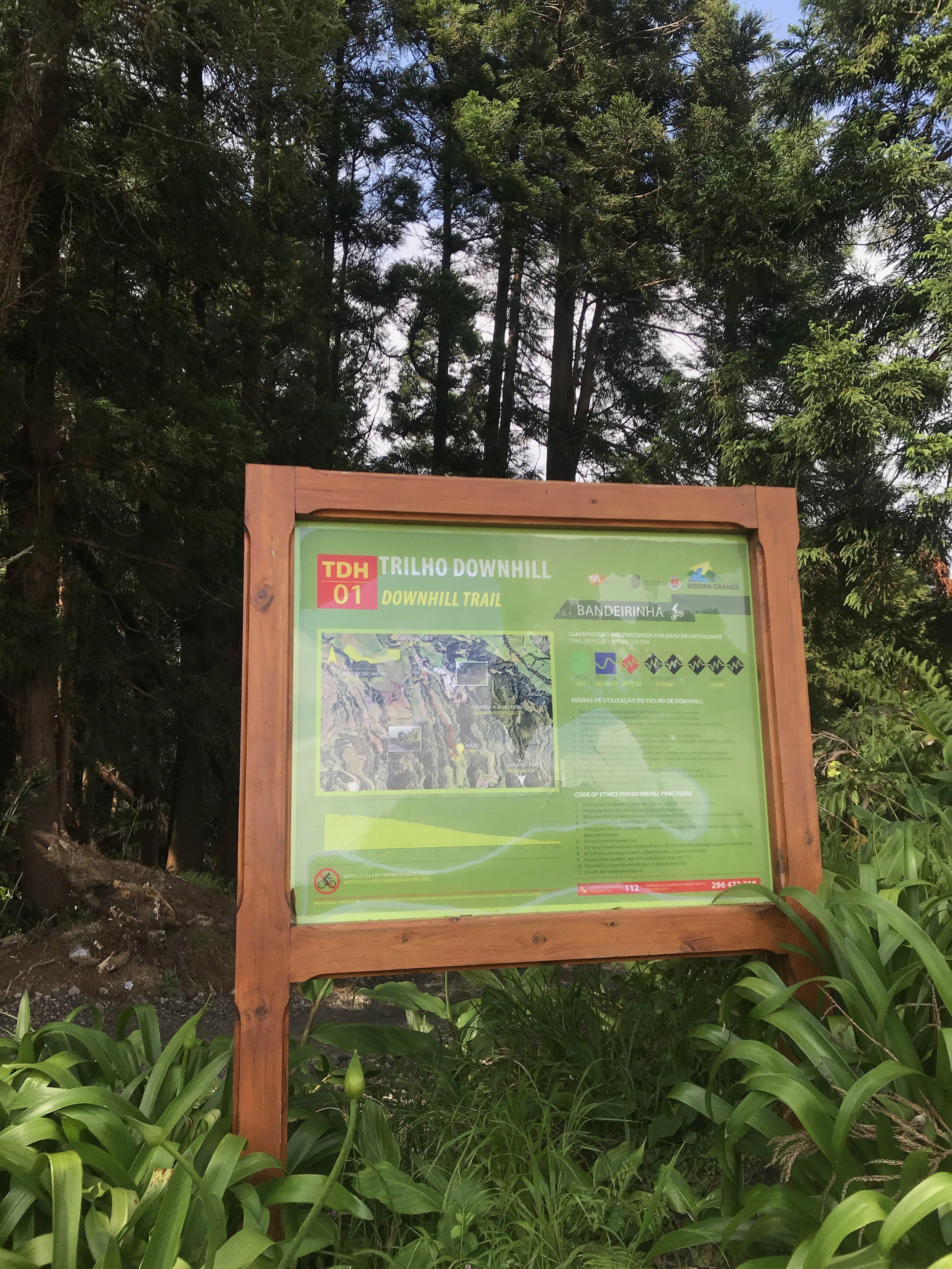 Start des ausgeschilderten Trails